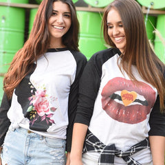 Bear Kiss Baseball Tee