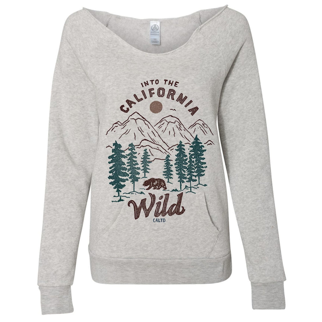 Into the wild scoop neck sweater-Sweaters-CA LIMITED