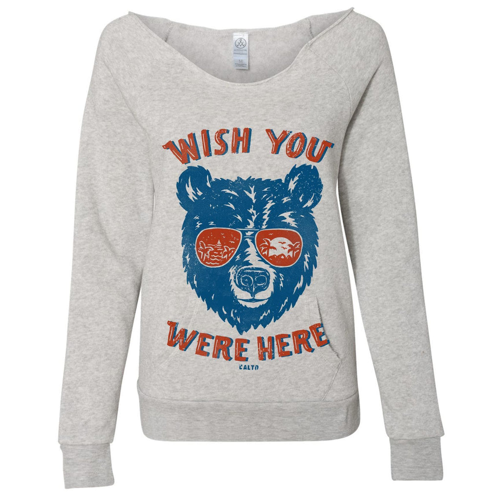 Wish You Were Here Oatmeal Sweater-Sweaters-CA LIMITED