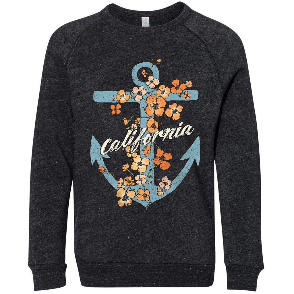 Anchor Poppies Eco Black Youth Sweater-CA LIMITED