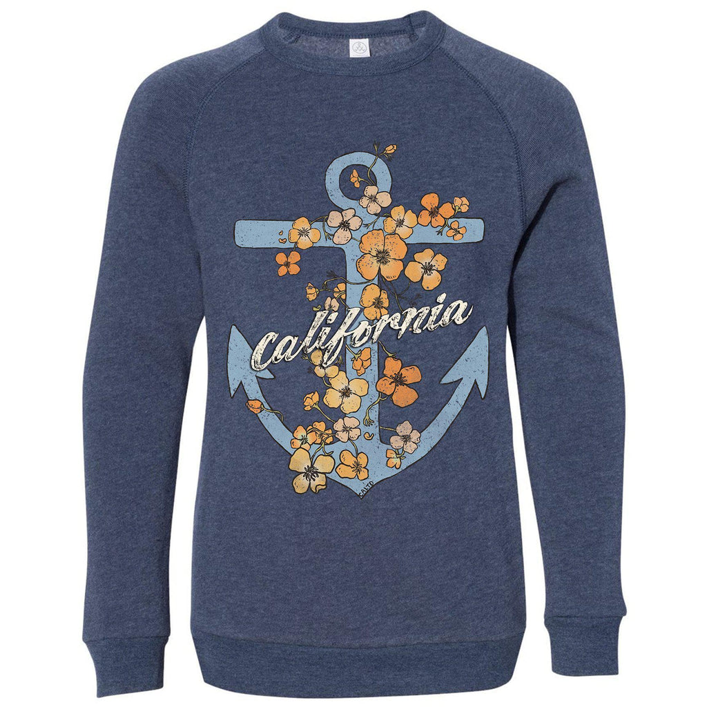 Anchor Poppies Eco True Navy Youth Sweater-CA LIMITED