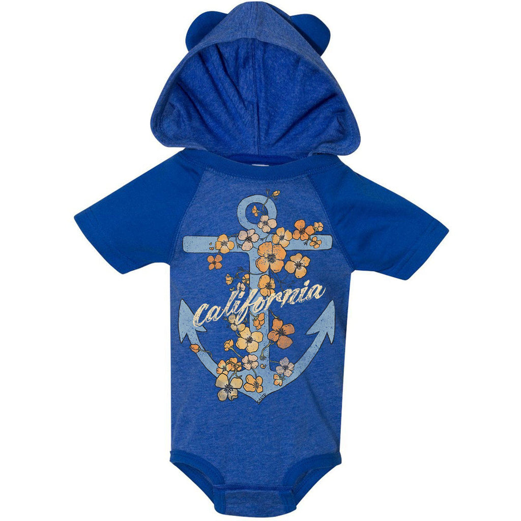 Anchor Poppies Vintage Royal Baby Onesie-CA LIMITED