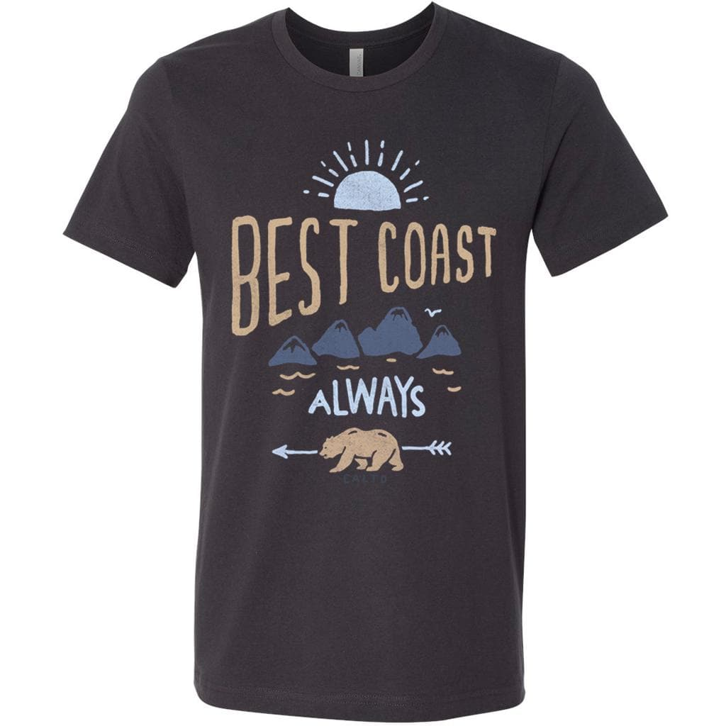 Best Coast Always Charcoal Tee-CA LIMITED