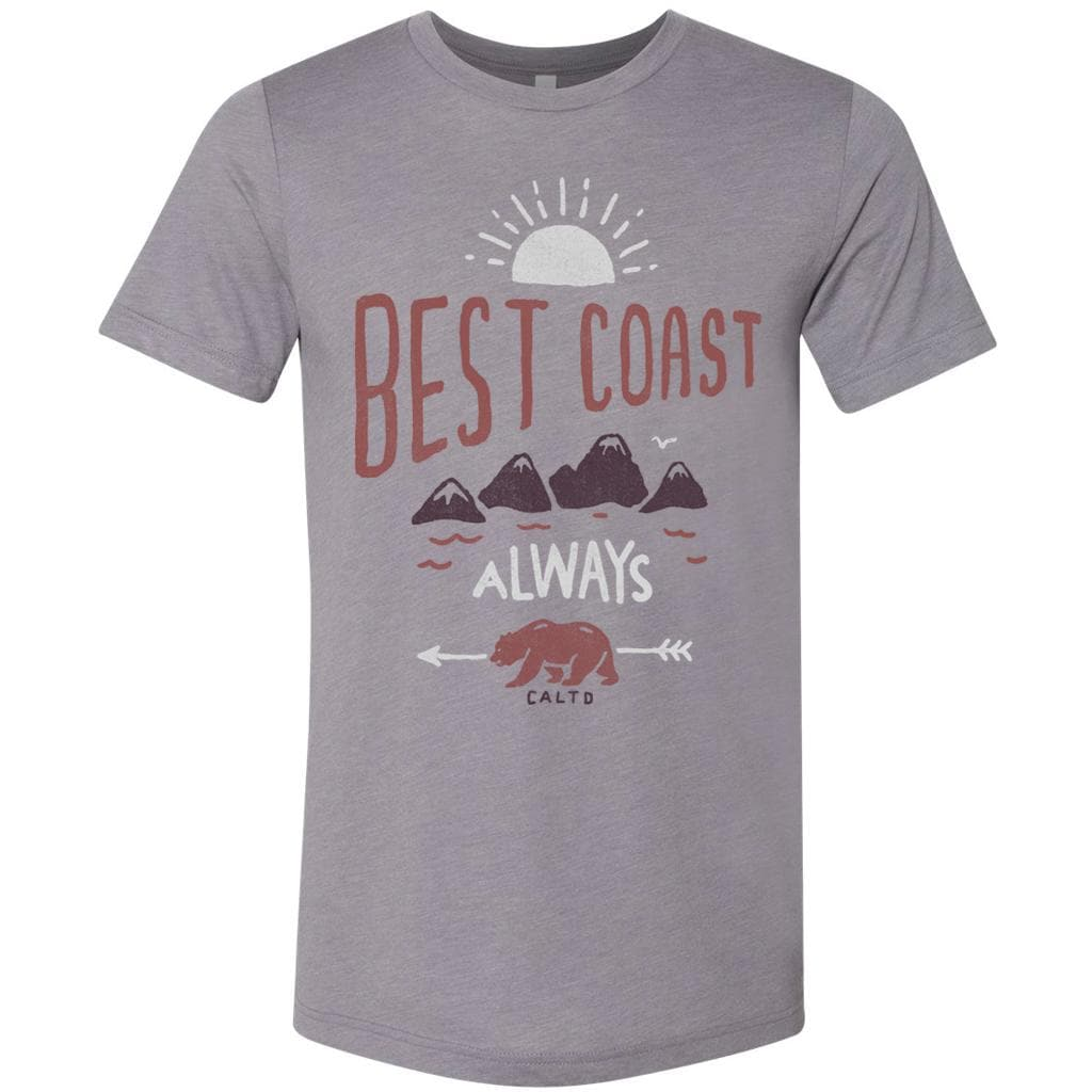 Best Coast Always Silver Tee-CA LIMITED