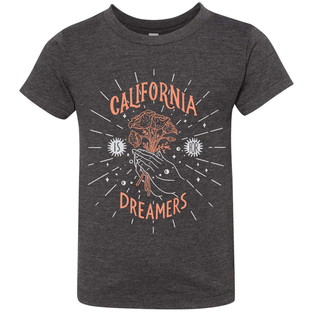 California Dreamers Dark Grey Toddlers Tee-CA LIMITED