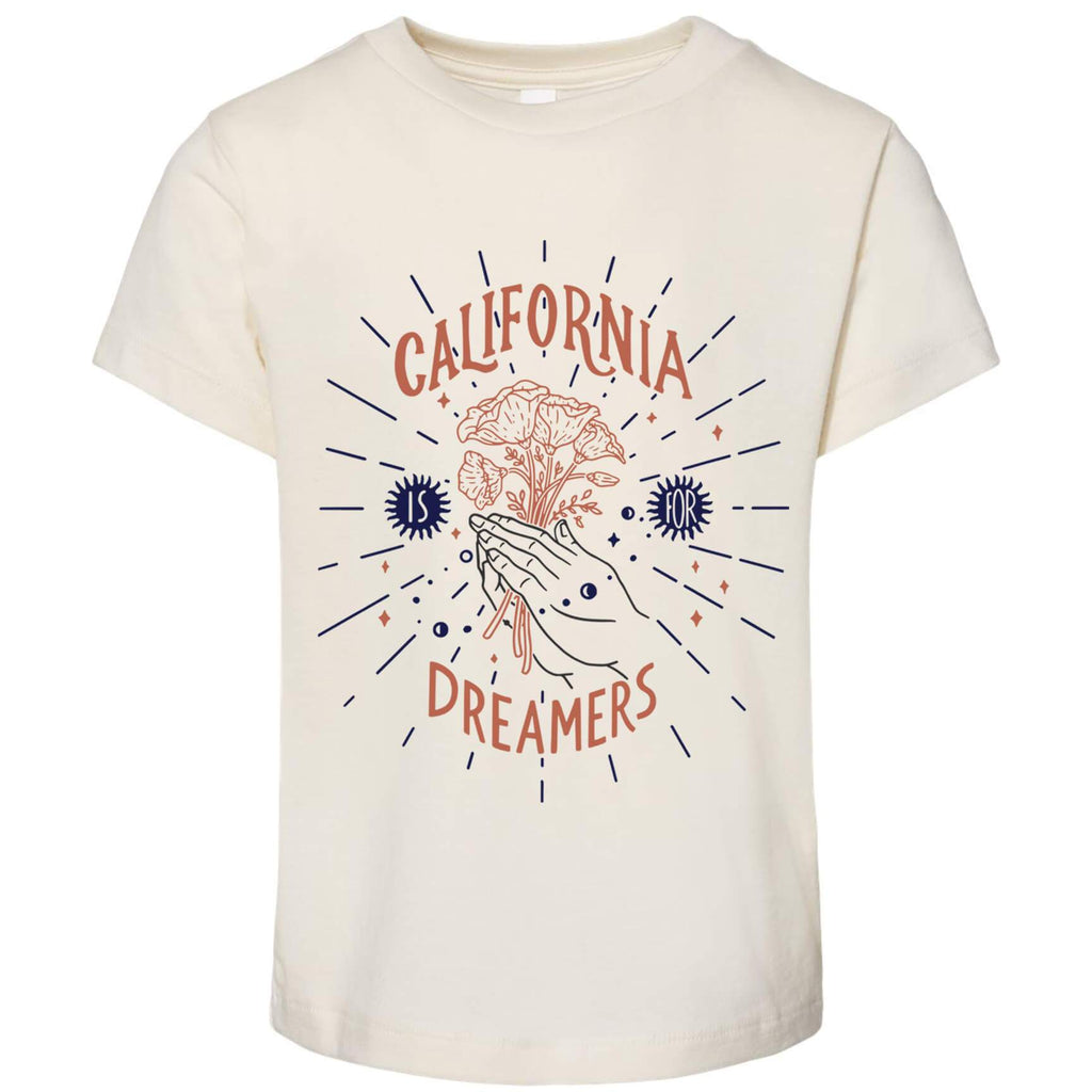 California Dreamers Natural Toddlers Tee-CA LIMITED