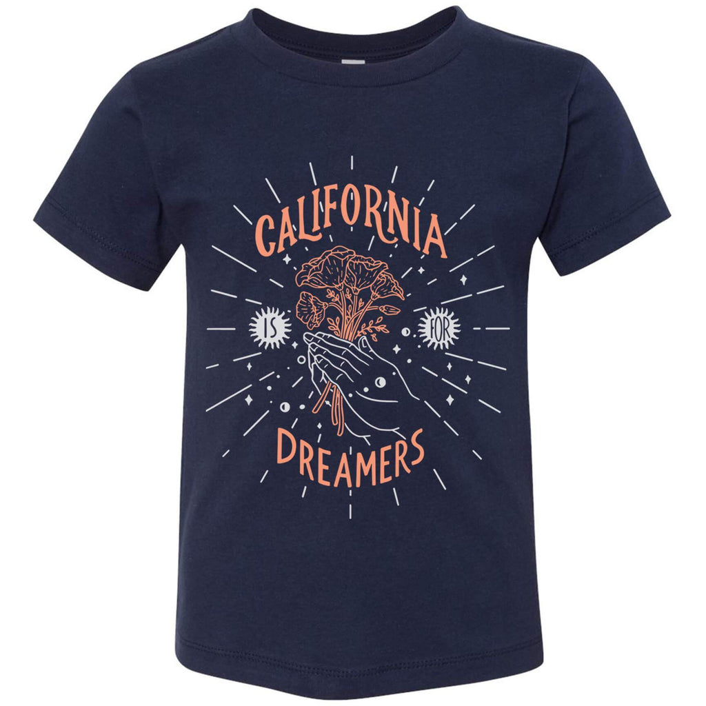 California Dreamers Navy Toddlers Tee-CA LIMITED