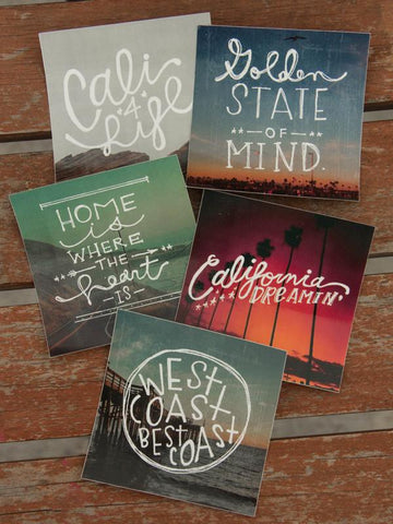 Hand Drawn California Sticker Pack