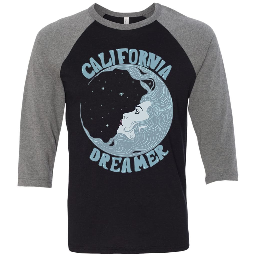 Cosmic Dreaming Black Unisex Baseball tee-CA LIMITED