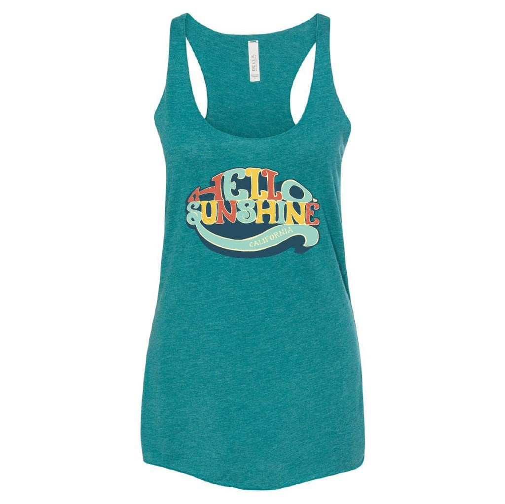 Hello Sunshine Teal Tank-CA LIMITED