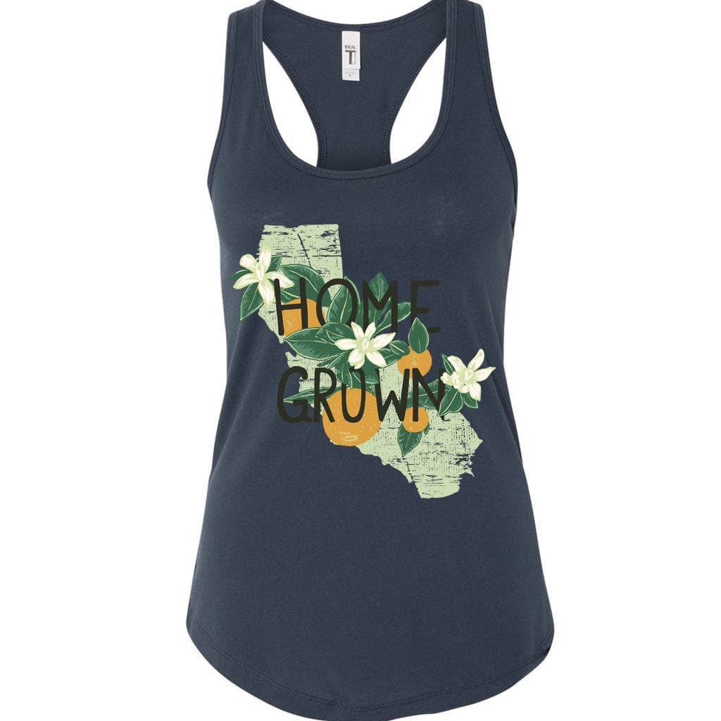 Home Grown Indigo Blue racerback tank-CA LIMITED