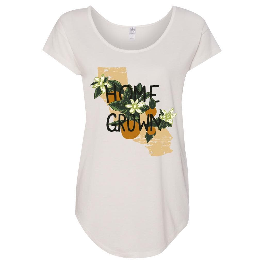 Home Grown White Flowy Tee-CA LIMITED