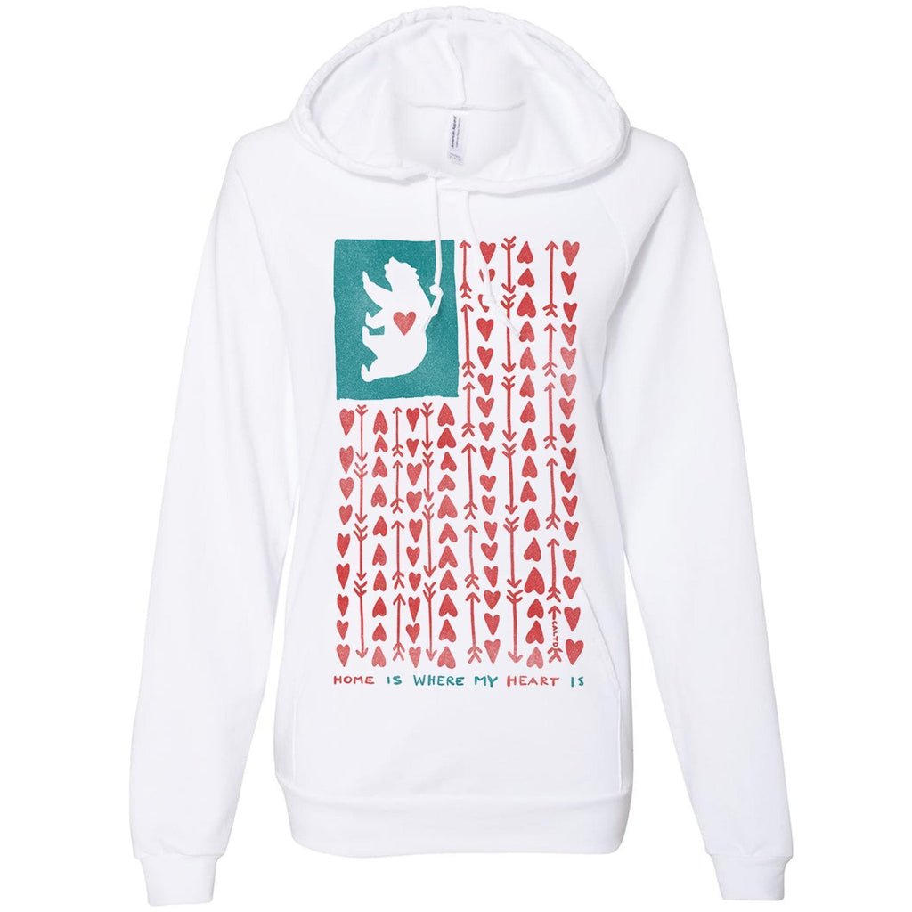 Home Heart white hoodie-CA LIMITED