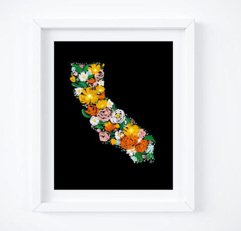 Floral California Art Print