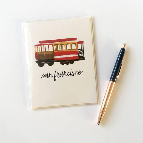 Cable Car Notecard