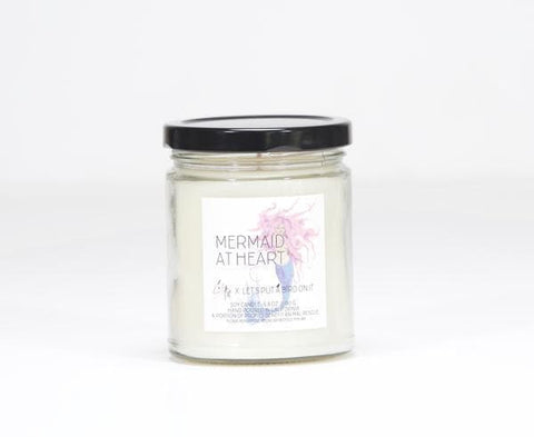 Mermaid at Heart Candle