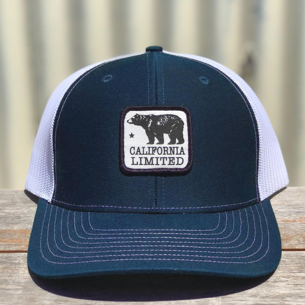 Navy & White Bear Trucker hat-CA LIMITED