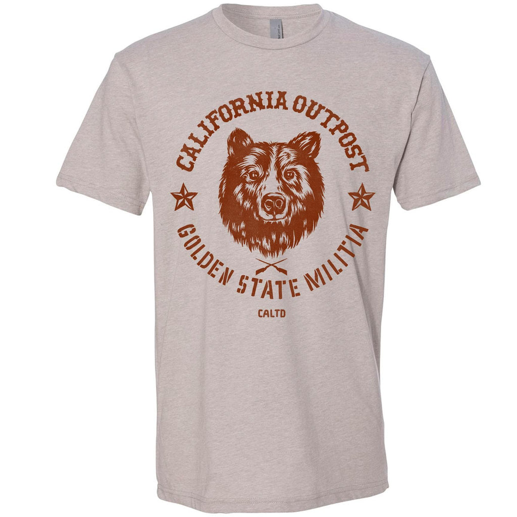 Outpost Bear light grey Tee-CA LIMITED