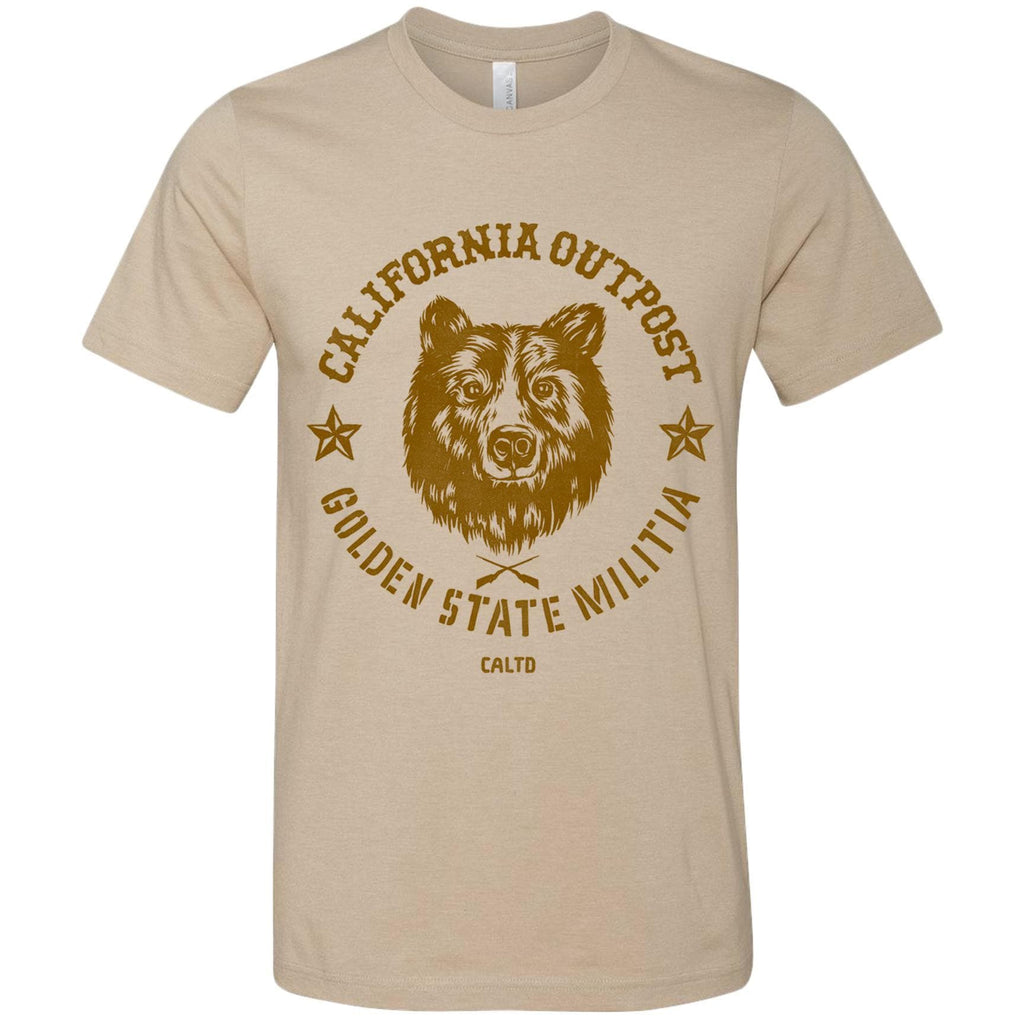 Outpost Bear tan Tee-CA LIMITED