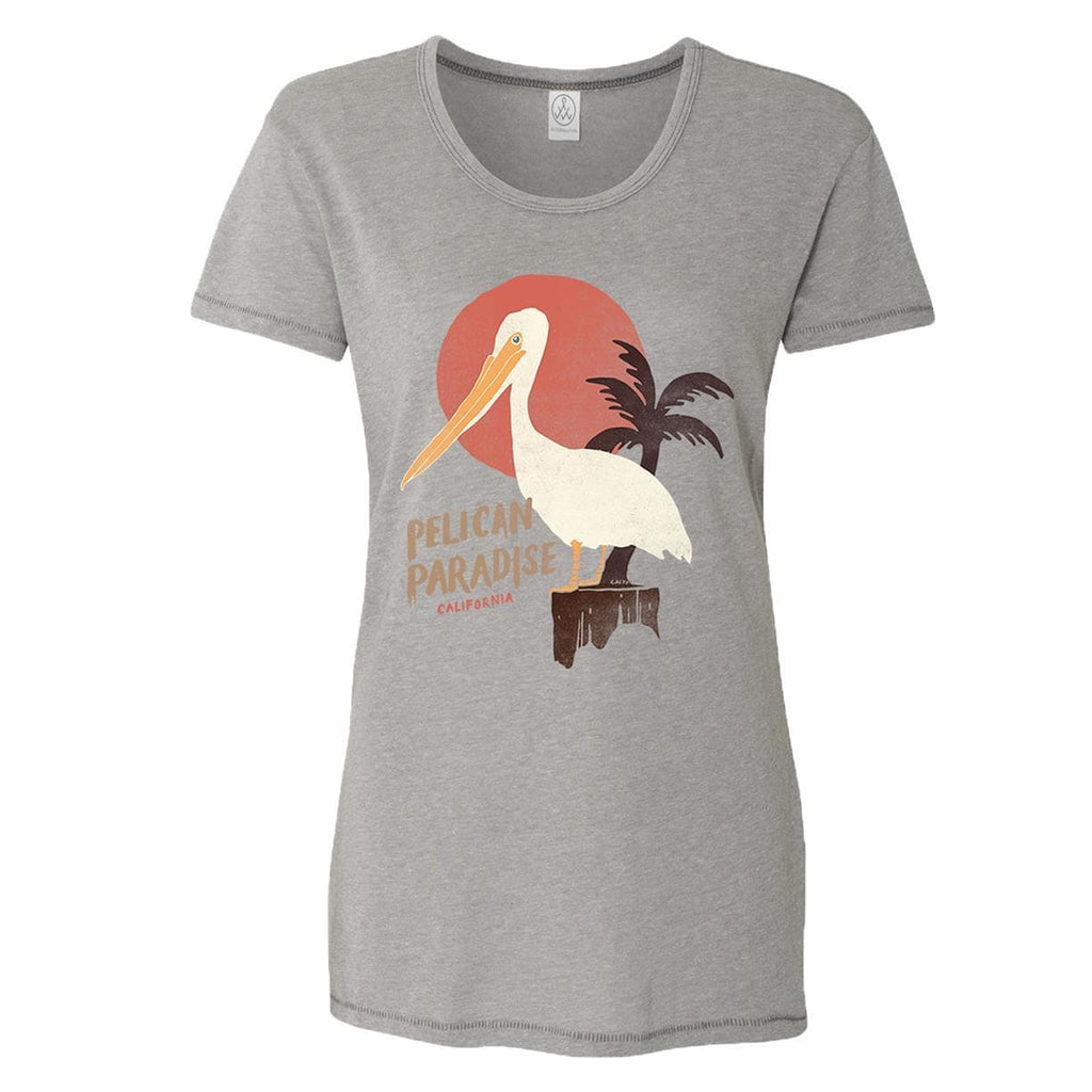 Pelican Paradise Smoke Grey Tee-CA LIMITED