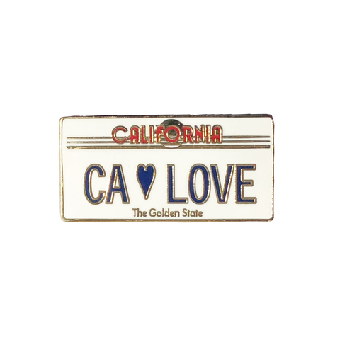 CA Love License Plate Pin