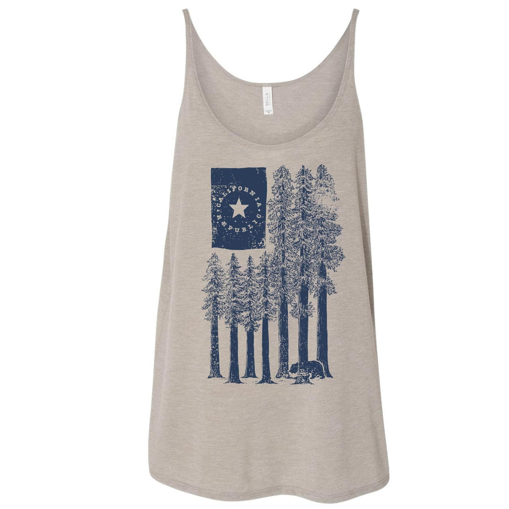 Redwood Trees dust flowy tank-CA LIMITED