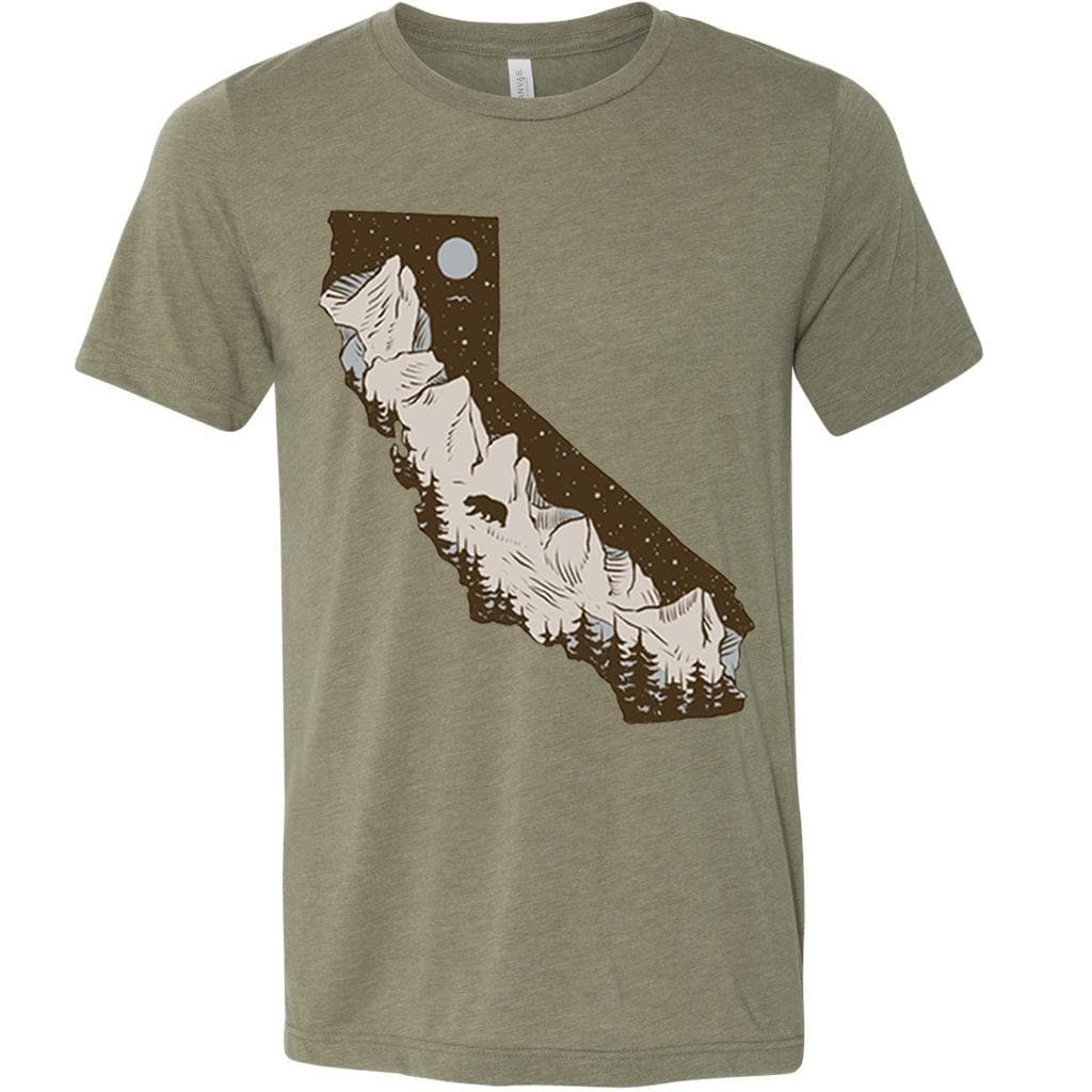 Redwoods California Olive Unisex Tee-CA LIMITED