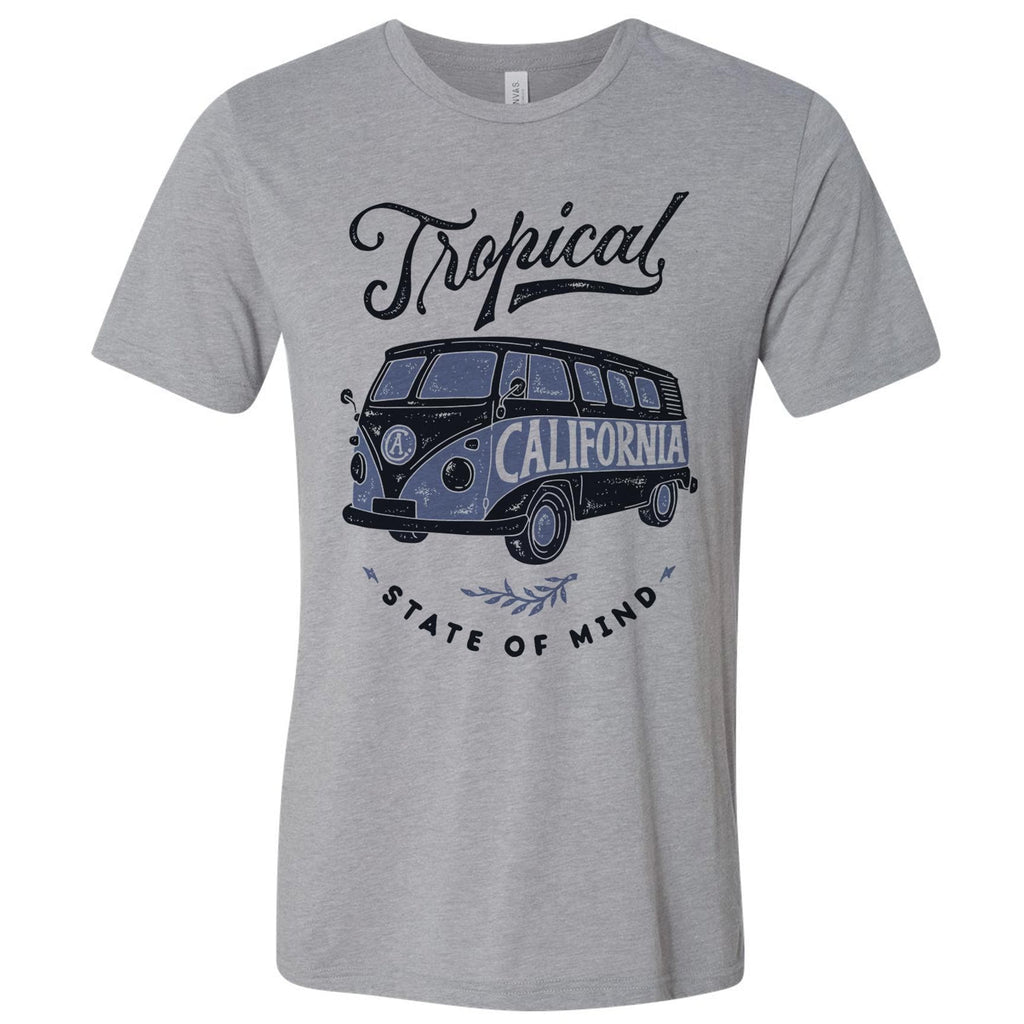 Tropical grey unisex tee-CA LIMITED