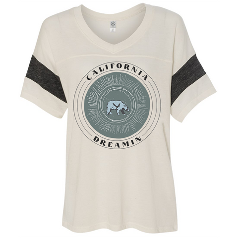 California Dreamin Celestial Bear Flowy Tee