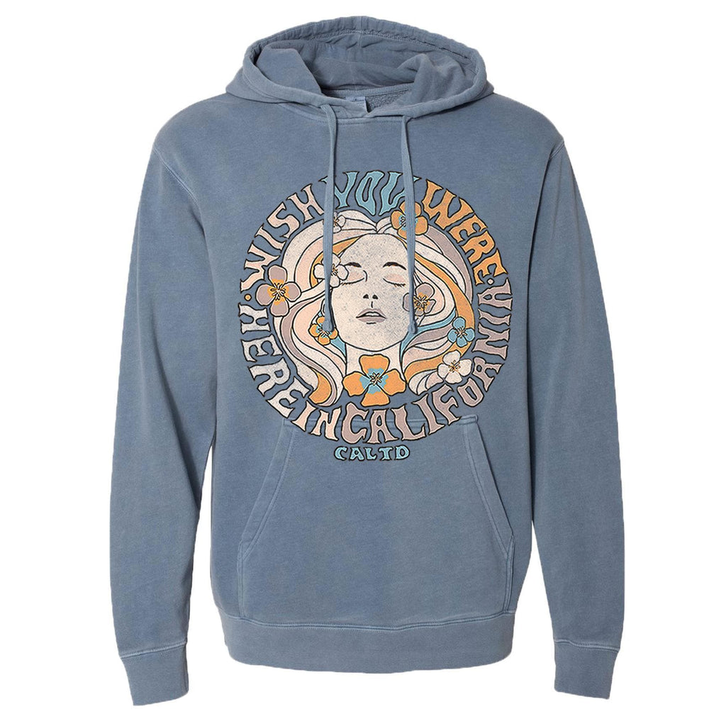 Wish Girl Light Blue Hoodie-CA LIMITED