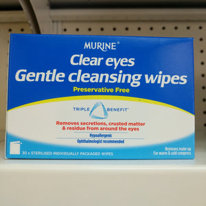 Clear Eyes Gentle Cleansing Wipes 30