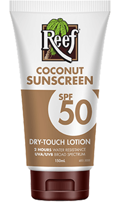 Reef Coconut Sunscreen Dry-Touch Lotion SPF50 150mL