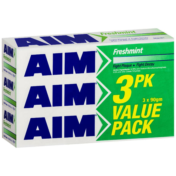 Aim Freshmint Toothpaste 3 pack