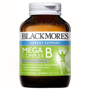 Blackmores Energy Support Mega Complex B 200 Tablets