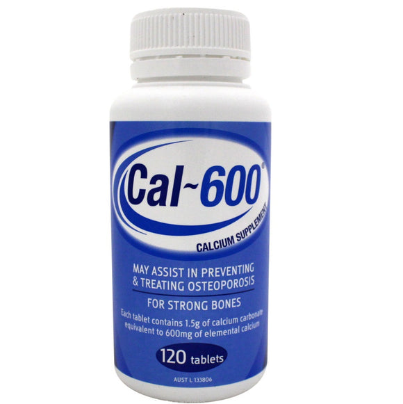 CAL-600 Calcium Carbonate Tablets 120 Tablets