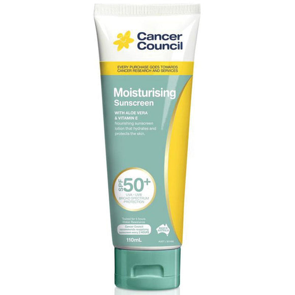 Cancer Council Moisturizing Sunscreen  SPF 50+ 110g