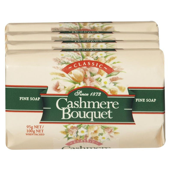 Cashmere Bouquet Classic Fine Soap 4 Pack