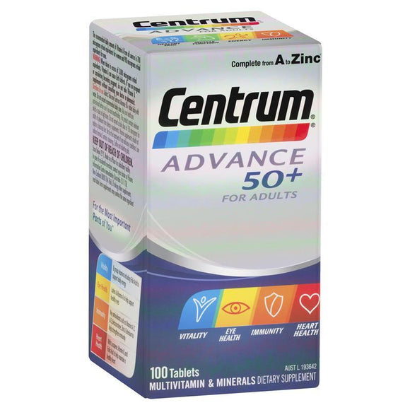 Centrum Advance 50+ for Adults  60 Tablets