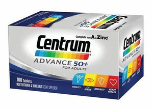 Centrum Advance for 50+ Adults 100 tablets