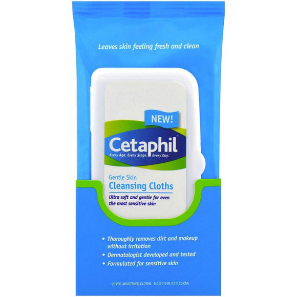 Cetaphil Gentle Skin Cleansing Wipes 25wipes