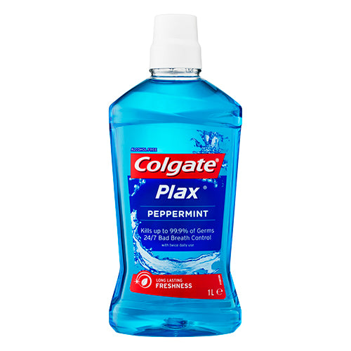 Colgate Plax Alcohol Free Peppermint Mouthwash 1L