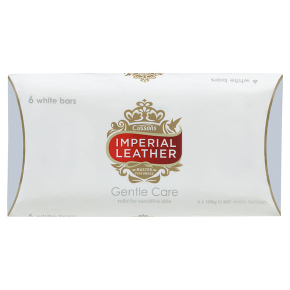 Cussons Imperial Leather Gentle Care Soap 6 White bars
