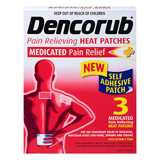 Dencorub Self Adhesive Patches 3 8cmx13cm