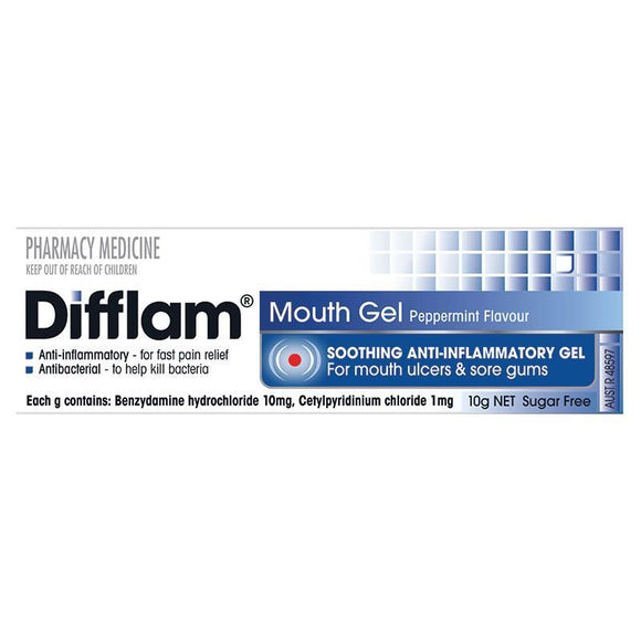 Difflam Mouth Gel Peppermint Flavour 10g