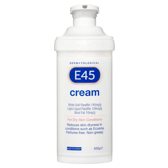 E45 Dermatological Cream Pump 500g