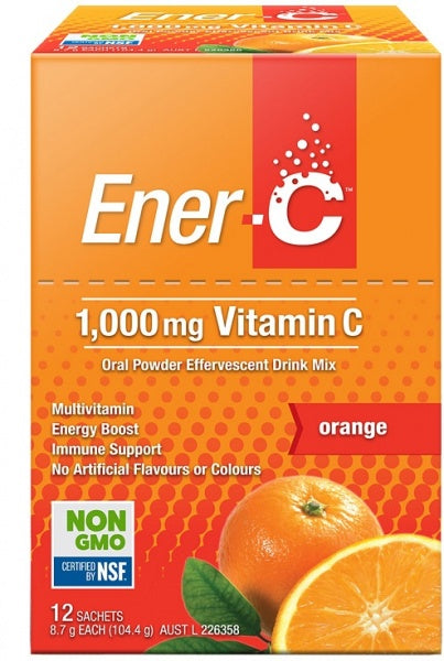 Ener-C 1000mg Vitamin C Orange 12 sachets