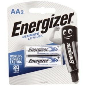 Energizer Ultimate 1.5V Lithium AA Battery 2 pack