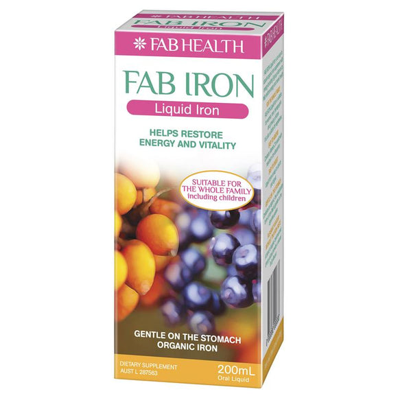 Fab Health Fab Liquid Iron 200ml
