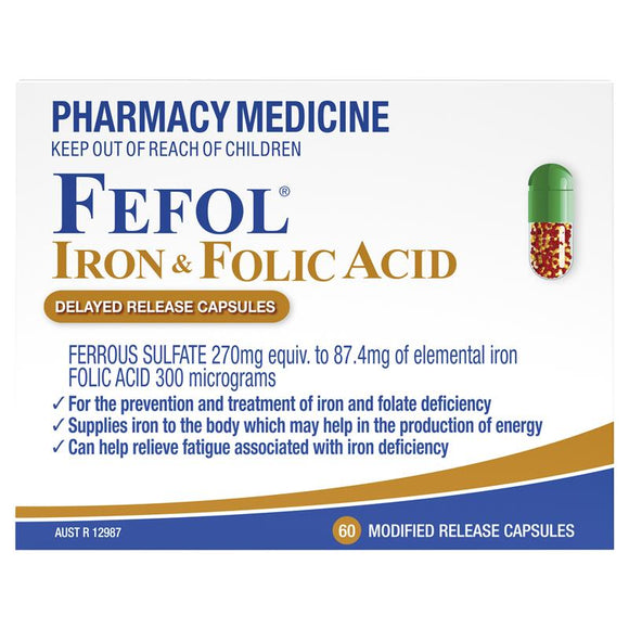 Fefol Iron & Folic Acid 60 Capsules