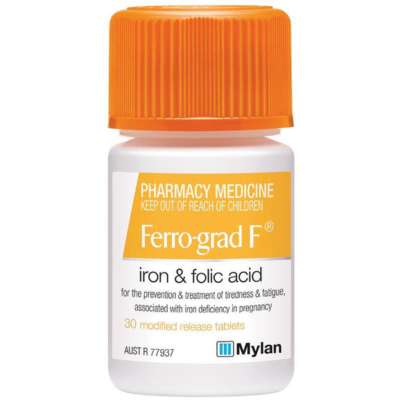 Ferro-grad F Iron & Folic Acid 30 Tablets